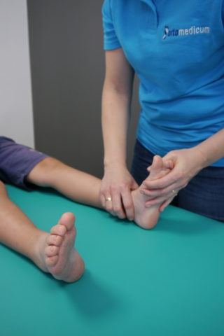 badanie manualne stopy