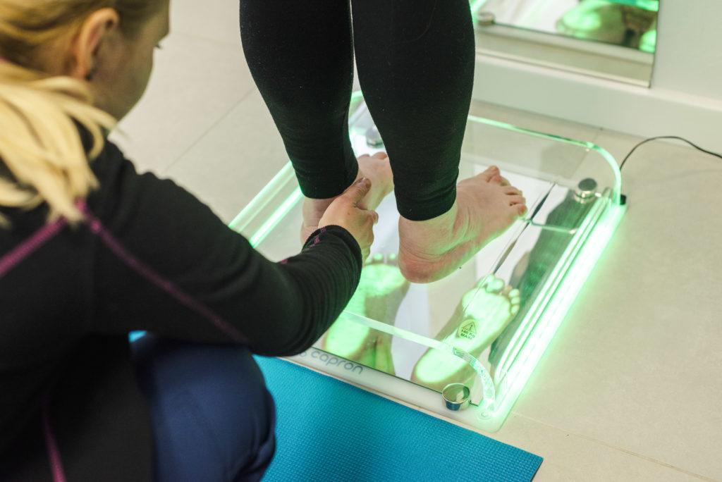 podoskop - badanie stóp