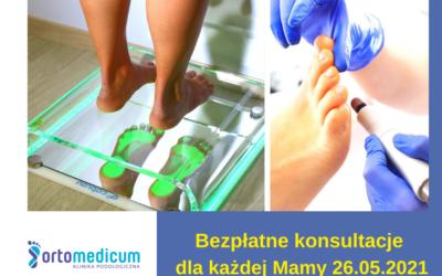 Bezpłatne konsultacje naDzień Matki wOrtomedicum Gliwice 26 maja 2021 r.