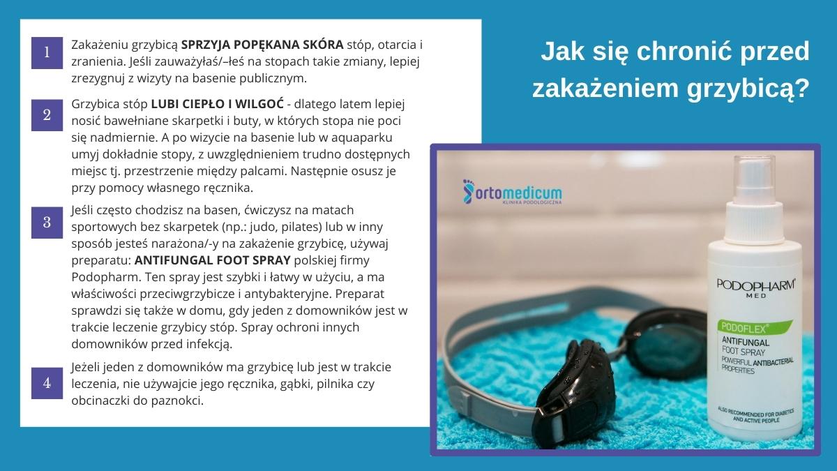 Jak się chronić przedzakażeniem grzybicą? infografika
